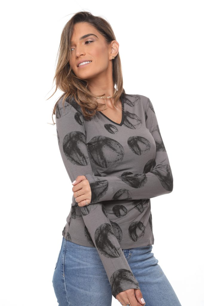 חולצה אורלין עיגול אפור 1