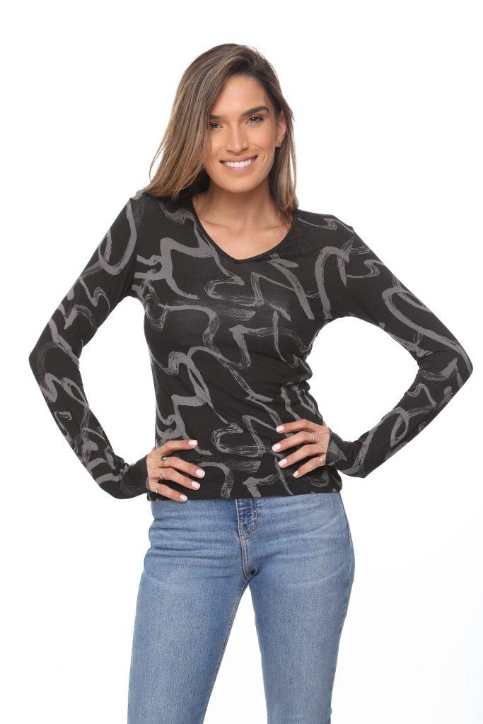 חולצה אורלין שחור מרוח 1