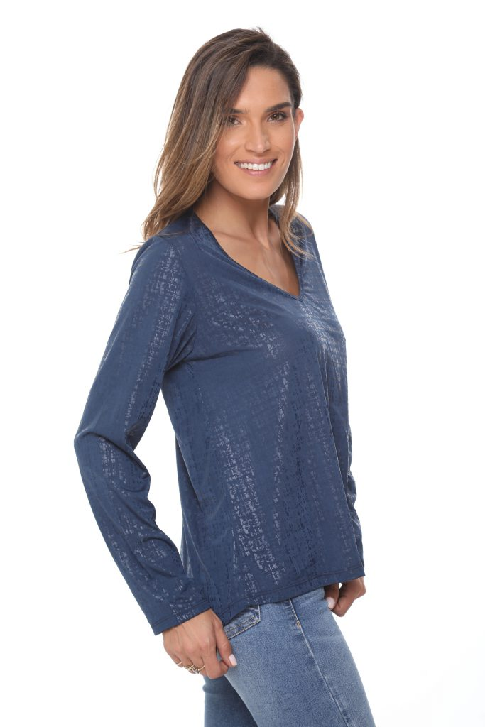 חולצה לינוי כחולה 3
