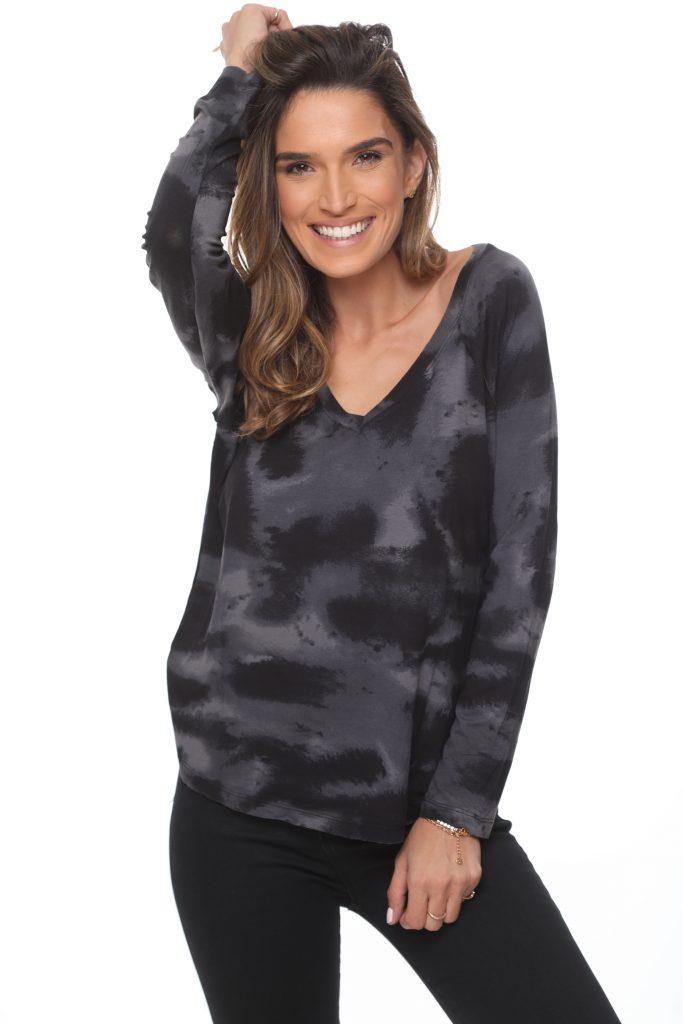 חולצה רנית שחור אפור 3